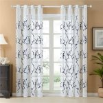 Blue Pattern Embroidered Curtains 200x250