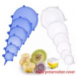 best 6 Piece stretched Silicone Food Wrap Bowl