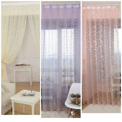 purple curtains 3 colours 100x200cm