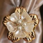 Beautiful Gold Magnet Curtains Buckle