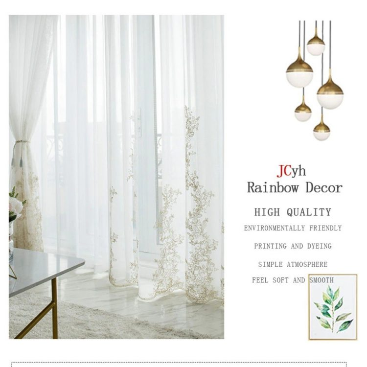 Luxury curtains Fancy curtains 3D Tulle