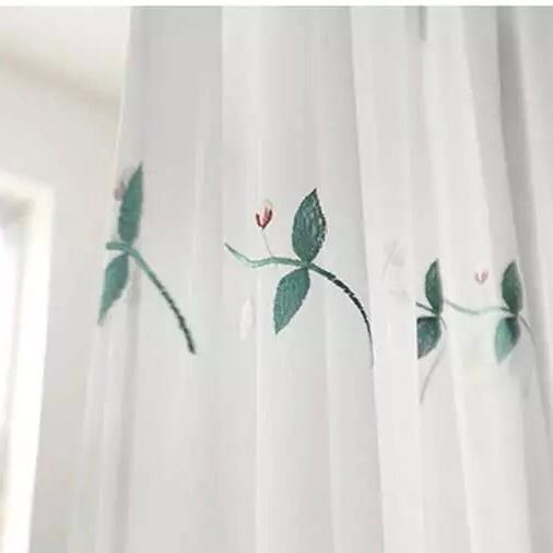 Blinds Floral Curtain