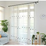Cutey Star Embroidered Curtains 2 color's