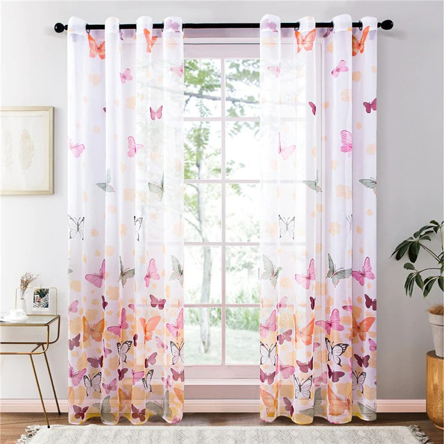 white voile curtains
