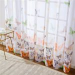 Colorful Butterfly Sheer Print Curtains 4 colours
