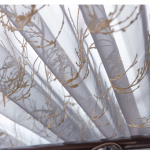 18 descript european high grade branch embroidered tulle curtains grey exquisite voile for living room bedroom window treatment drapes 5474