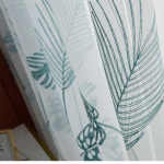 6 descript leaf embroidered tulle curtains for bedroom the livingroom window treatments pastoral sheer voile for kitchen drapes decor