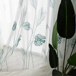7 descript leaf embroidered tulle curtains for bedroom the livingroom window treatments pastoral sheer voile for kitchen drapes decor