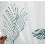 9 descript leaf embroidered tulle curtains for bedroom the livingroom window treatments pastoral sheer voile for kitchen drapes decor